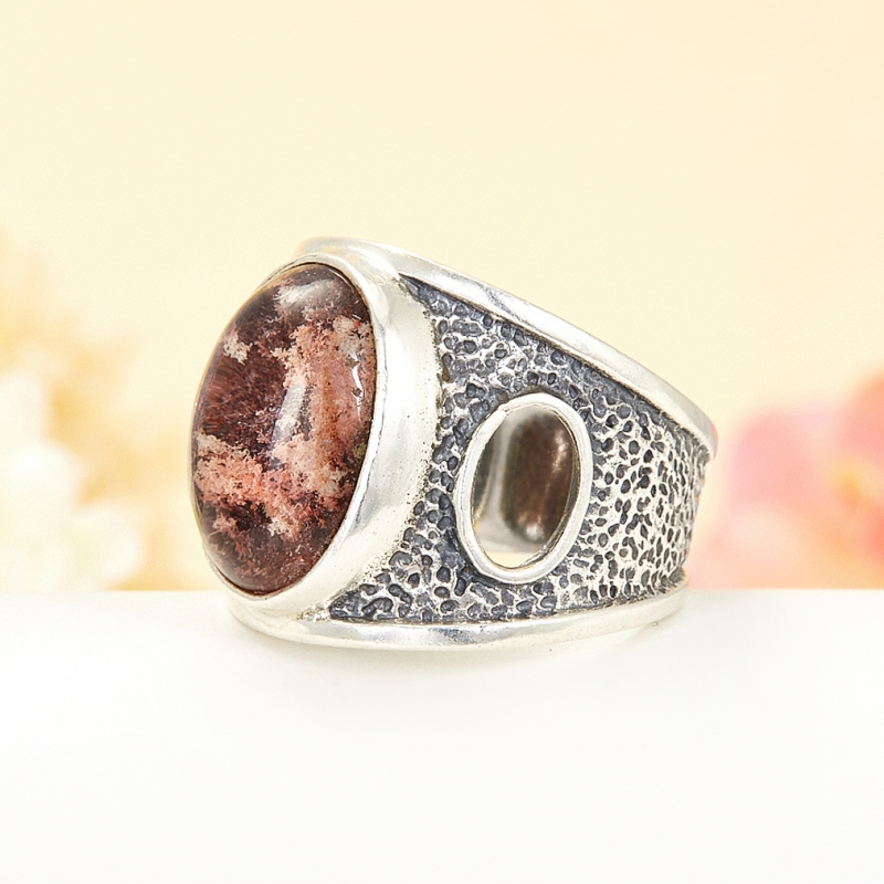 [del] Кольцо кварц Бразилия (серебро 925 пр.) размер 19,5
