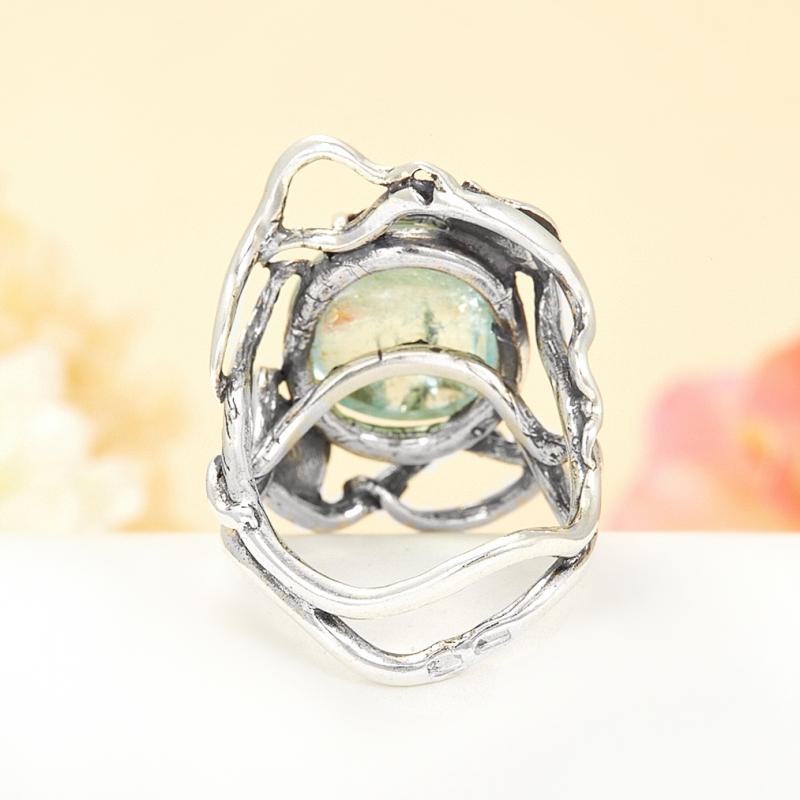 [del] Кольцо аквамарин Россия (серебро 925 пр.) размер 17