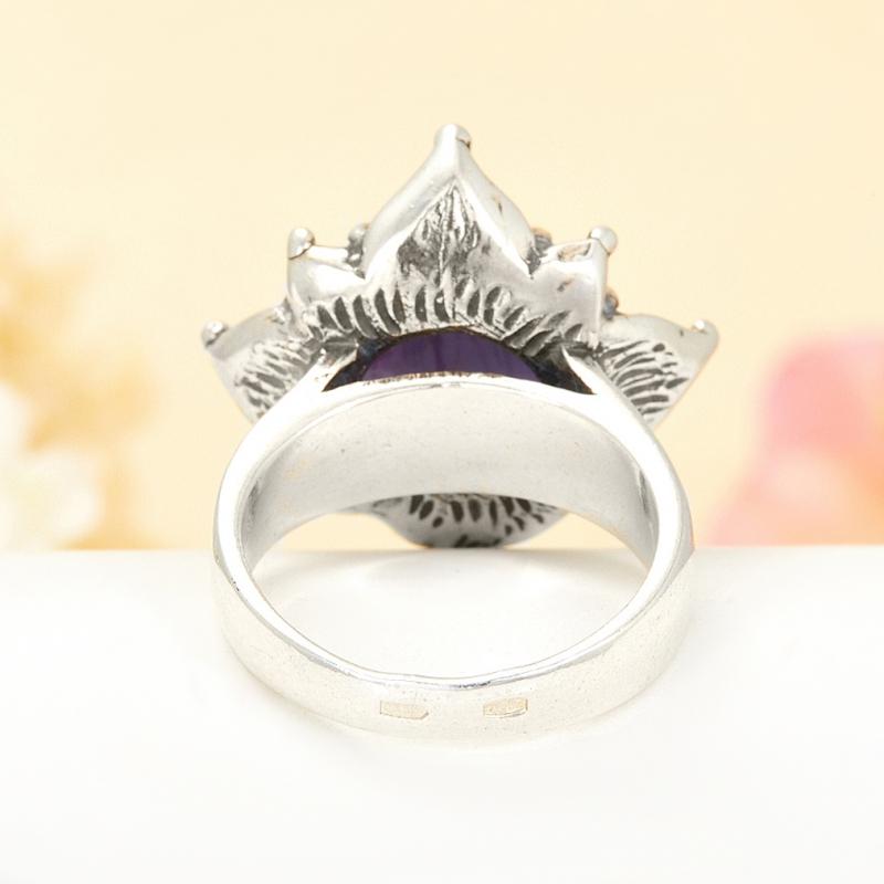 [del] Кольцо иолит Бразилия (серебро 925 пр.) размер 16,5