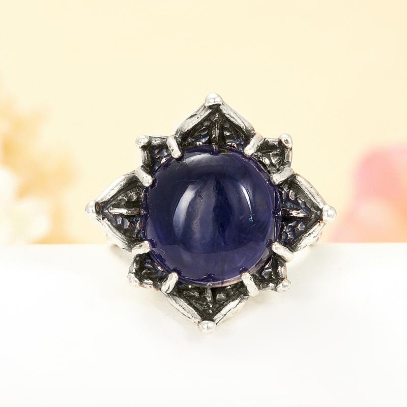 [del] Кольцо иолит Бразилия (серебро 925 пр.) размер 18