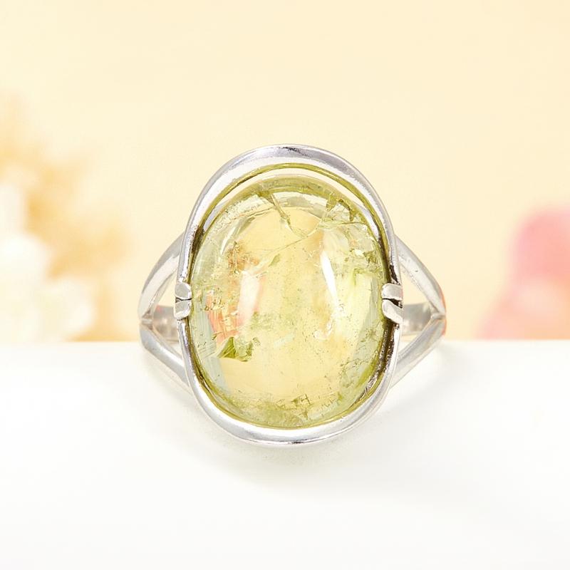 [del] Кольцо берилл Россия (серебро 925 пр.) размер 16