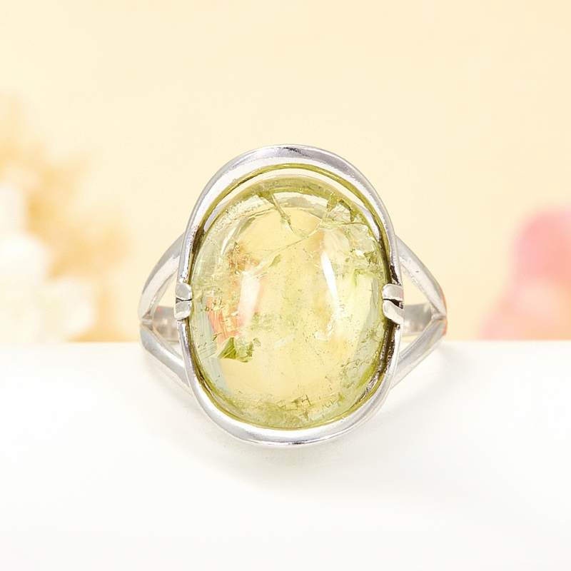 [del] Кольцо берилл Россия (серебро 925 пр.) размер 18,5