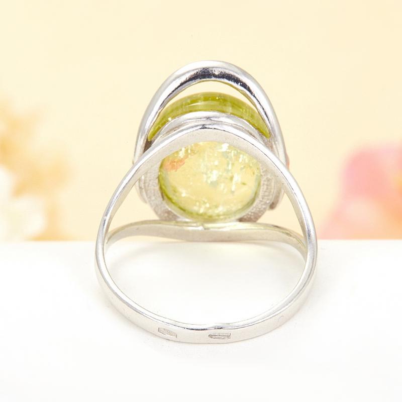 [del] Кольцо берилл Россия (серебро 925 пр.) размер 19