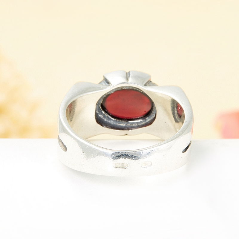 [del] Кольцо гранат альмандин Бразилия (серебро 925 пр.) размер 16
