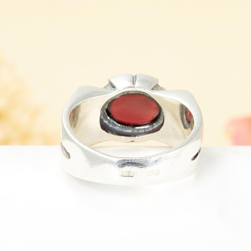 [del] Кольцо гранат альмандин Бразилия (серебро 925 пр.) размер 19