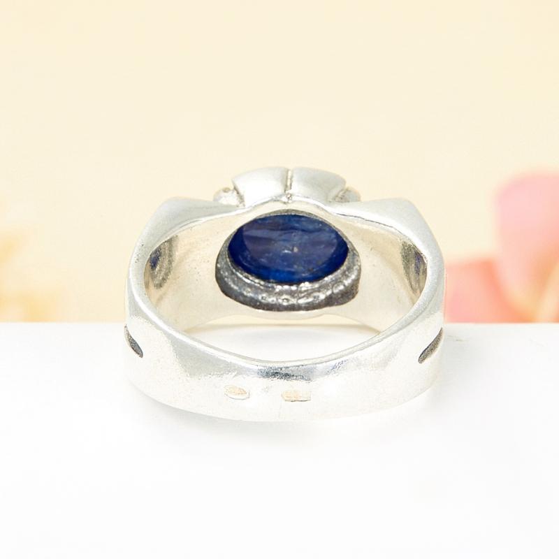 [del] Кольцо кианит синий Кения (серебро 925 пр.) размер 18