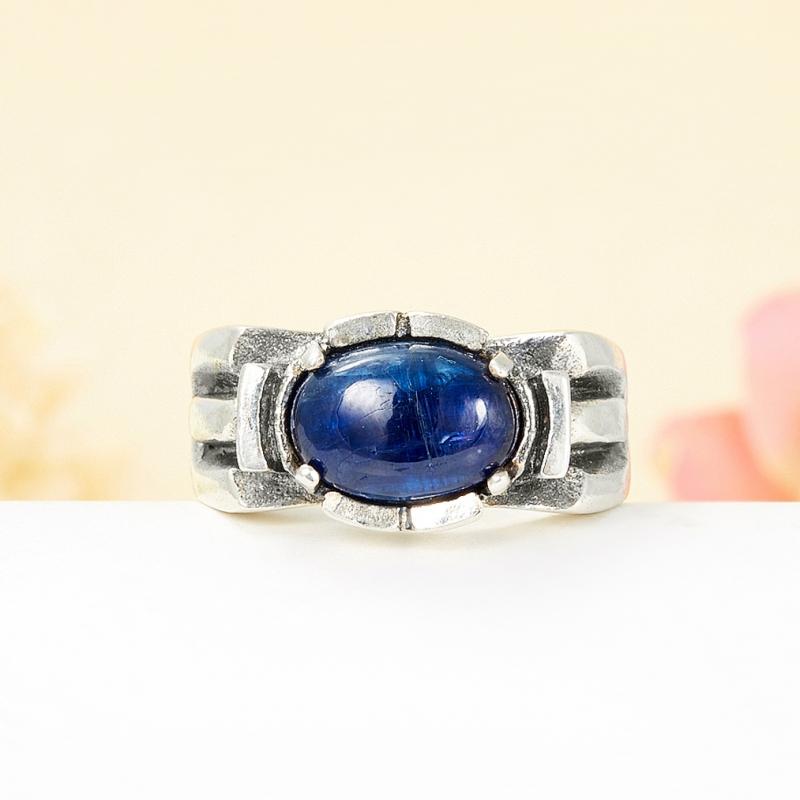 [del] Кольцо кианит синий Кения (серебро 925 пр.) размер 20,5