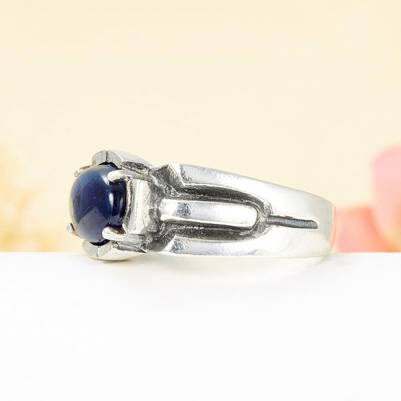 [del] Кольцо кианит синий Кения (серебро 925 пр.) размер 22