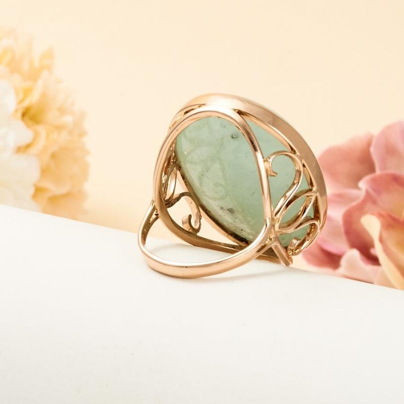 Кольцо берилл Россия (золото 585 пр.) размер 18