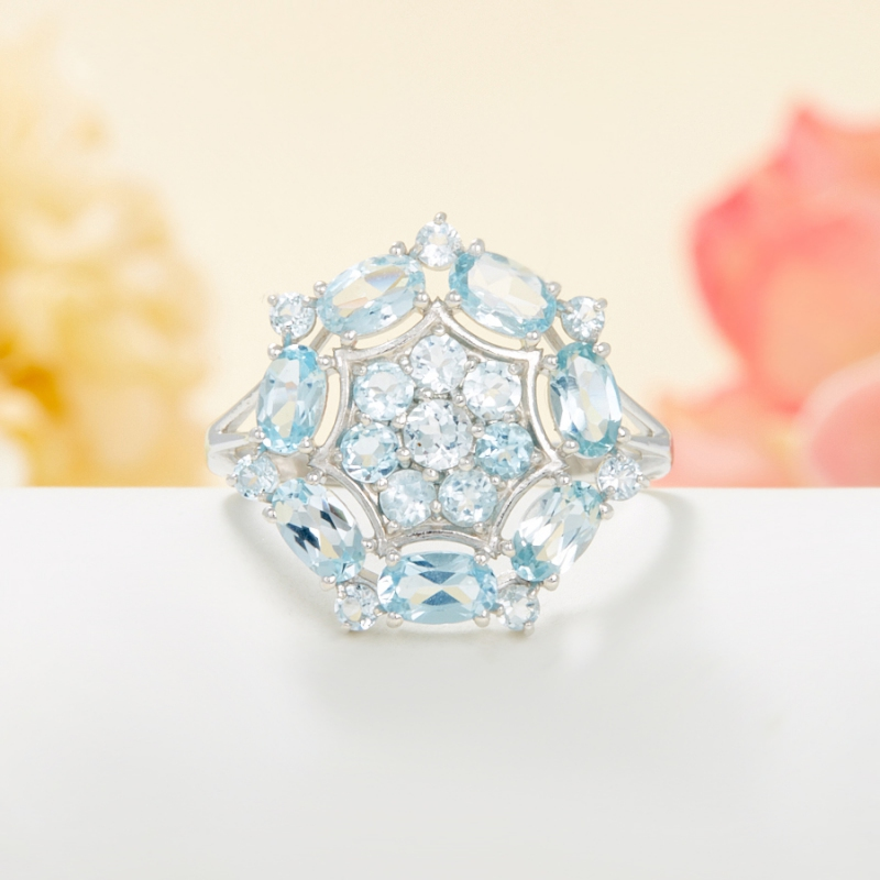 Кольцо топаз голубой огранка (серебро 925 пр.) размер 18 кольцо коюз топаз кольцо т148017982