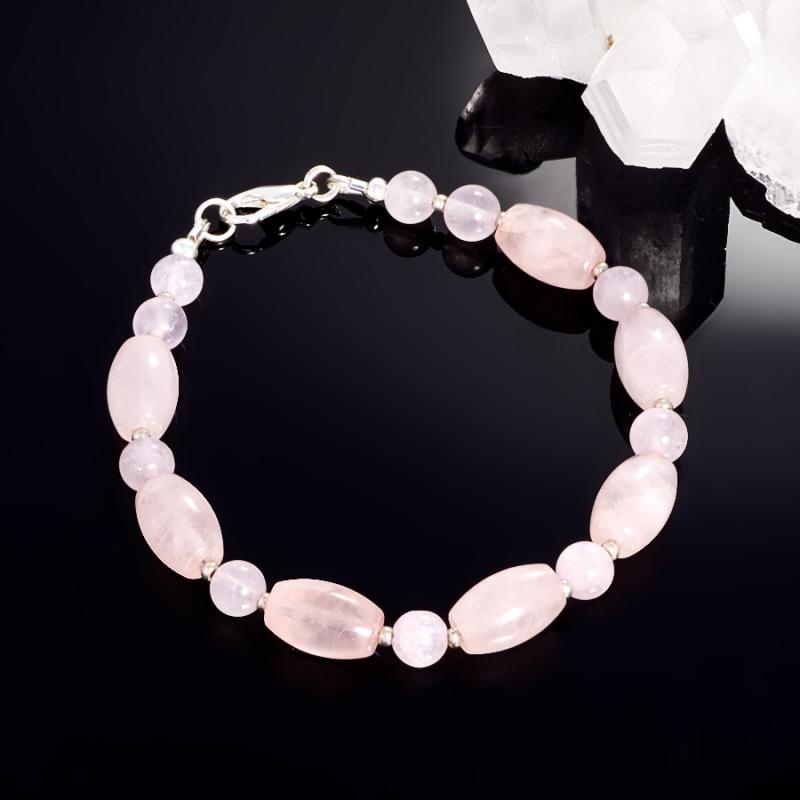 Браслет розовый кварц  18 cм