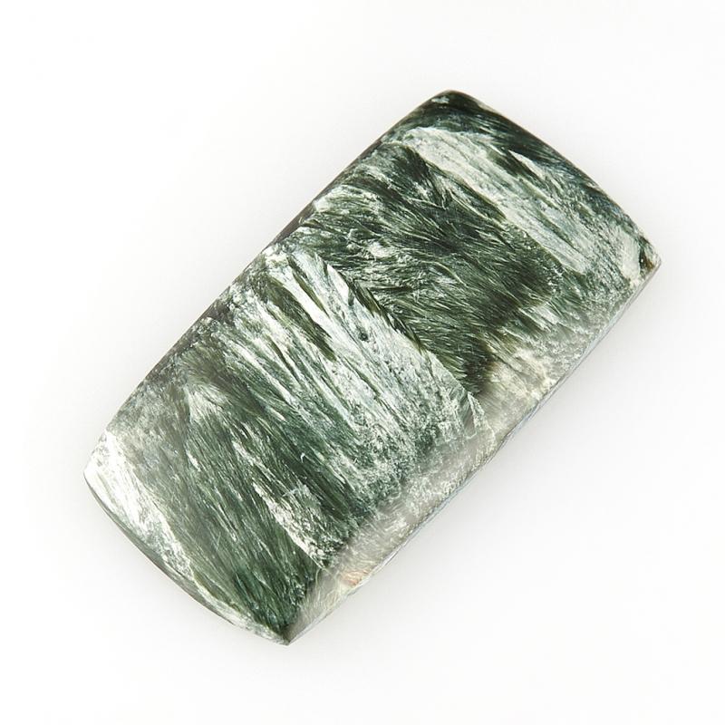 Кабошон клинохлор (серафинит)  15*29 мм