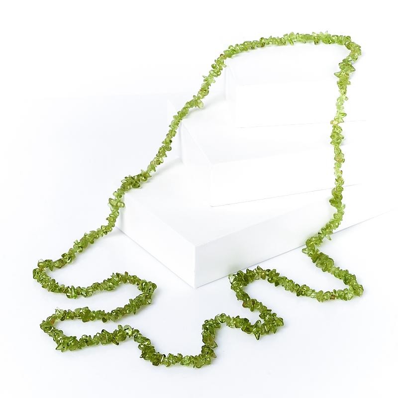 Бусы хризолит  длинные 86 см