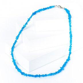 Бусы апатит голубой Бразилия 45 см (биж. сплав)