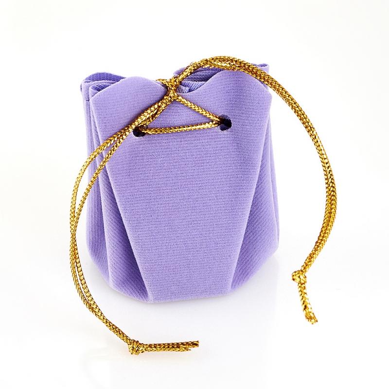 Подарочная упаковка универсальная (мешочек объемный сиреневый) 40х40х60 мм