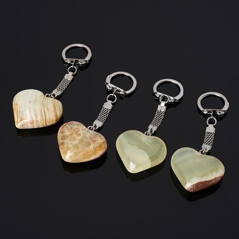 Брелок сердце оникс мраморный 3,5-4 см
