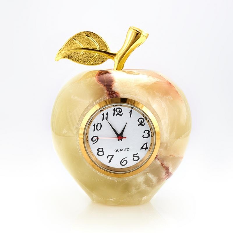 Часы яблоко оникс мраморный 6х8 см бусина оникс мраморный галтовка 1 шт