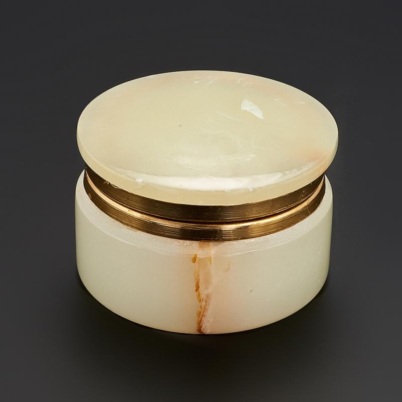 Шкатулка оникс мраморный 4х6,5 см