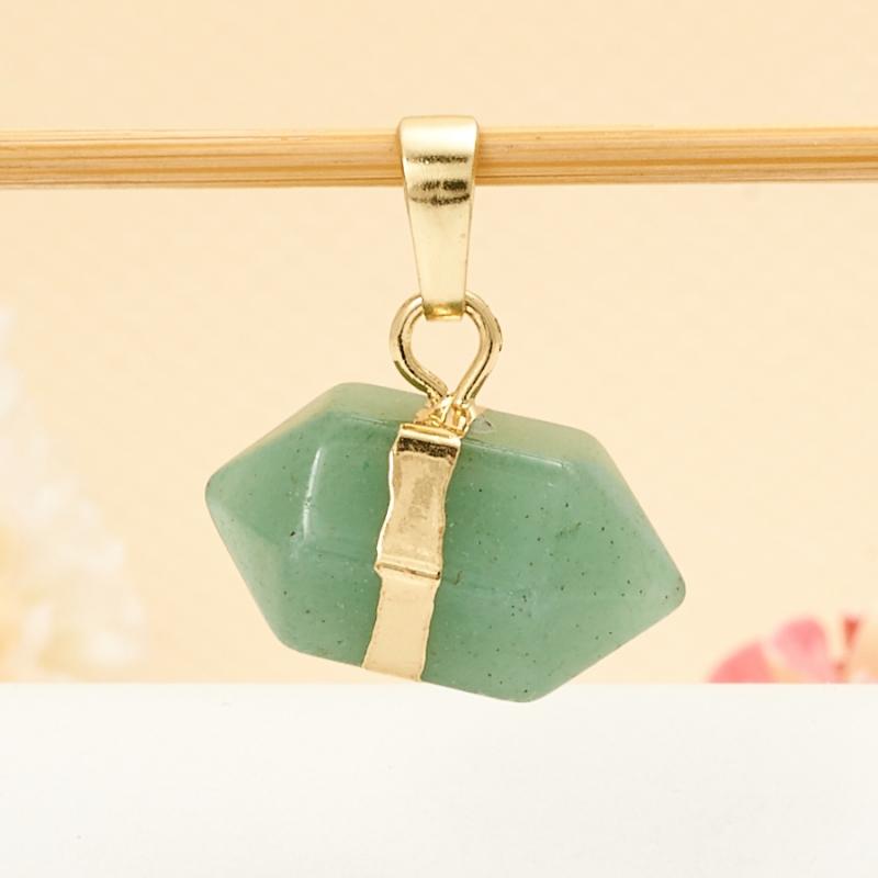 Кулон авантюрин зеленый  2 см