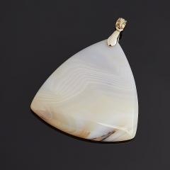 Кулон агат серый Ботсвана (биж. сплав) 6 см