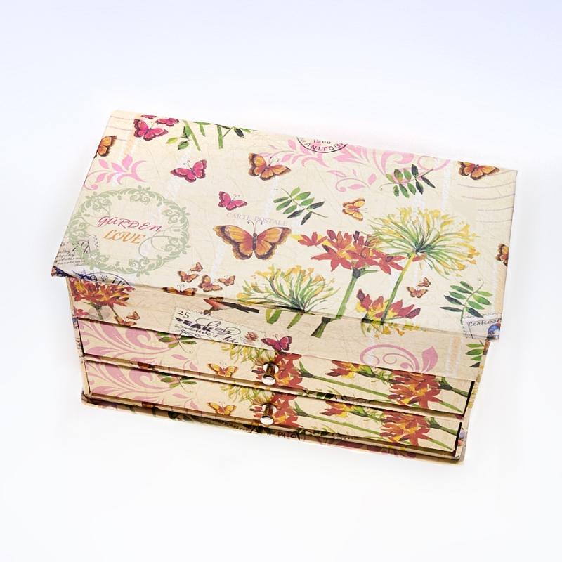 Шкатулка для хранения украшений 19x10,5x9,5 см