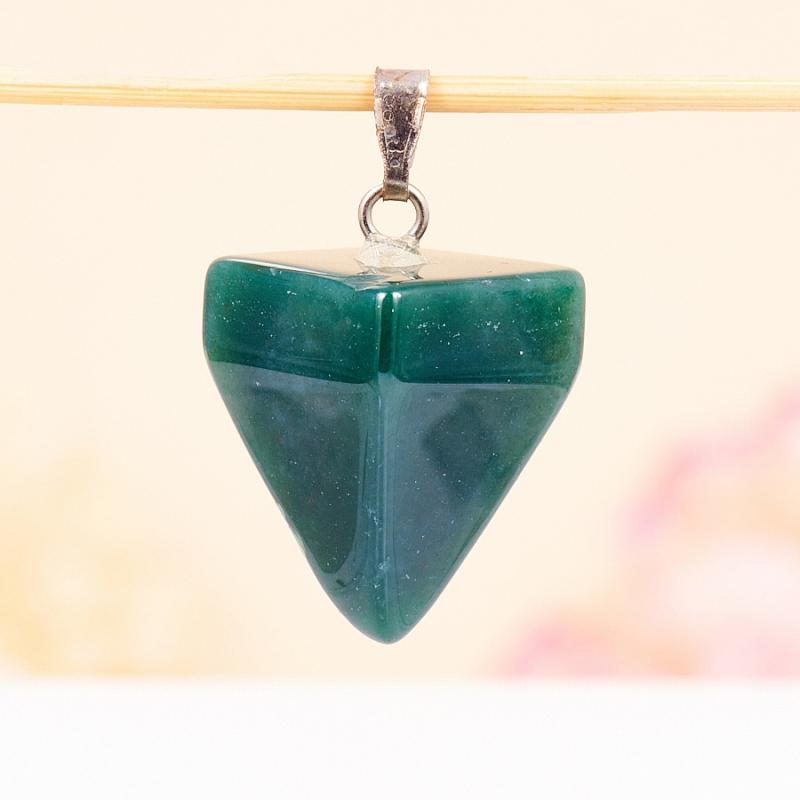 Кулон маятник агат моховой  2,5 см