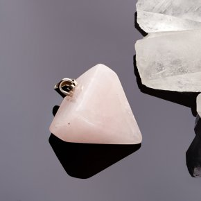 Кулон маятник розовый кварц Намибия 2,5 см