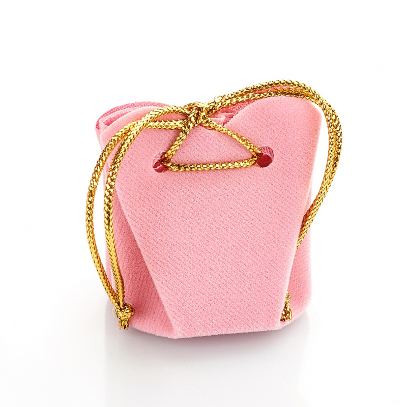 Подарочная упаковка универсальная (мешочек объемный розовый) 35х35х40 мм