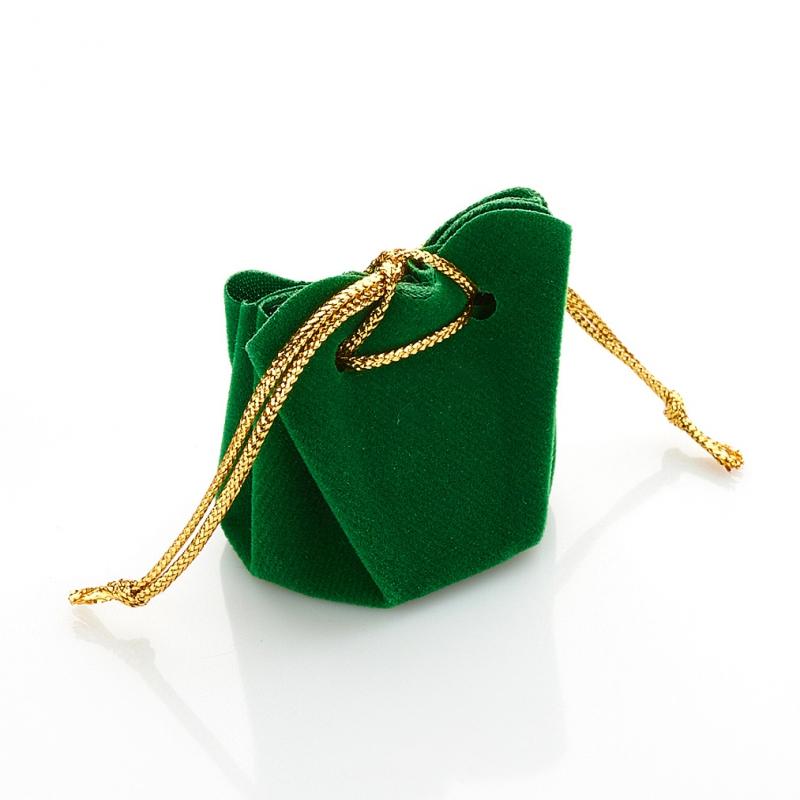Подарочная упаковка универсальная (мешочек объемный зеленый) 35х35х40 мм