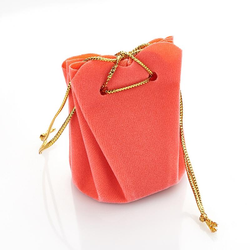 Подарочная упаковка универсальная (мешочек объемный коралловый) 40х40х60 мм