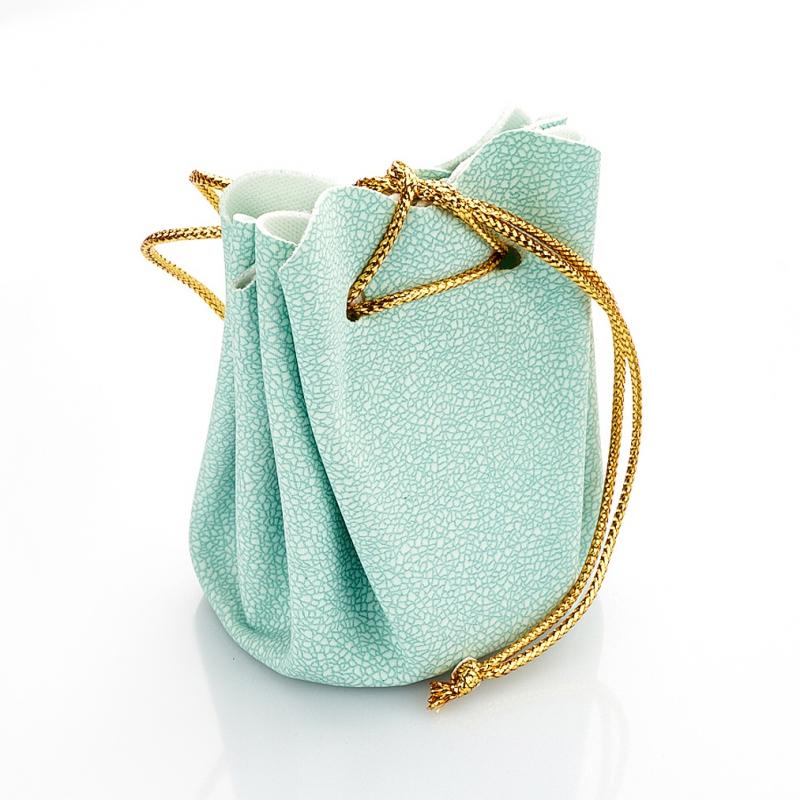 Подарочная упаковка универсальная (мешочек объемный голубой) 40х40х60 мм