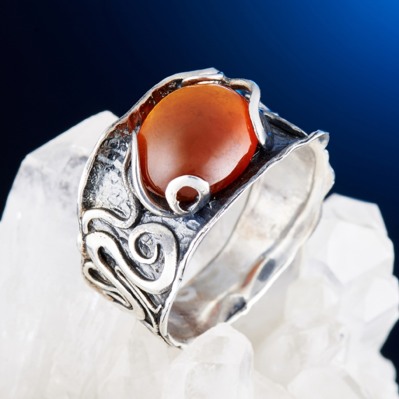 [del] Кольцо гранат спессартин Нигерия (серебро 925 пр.) размер 14
