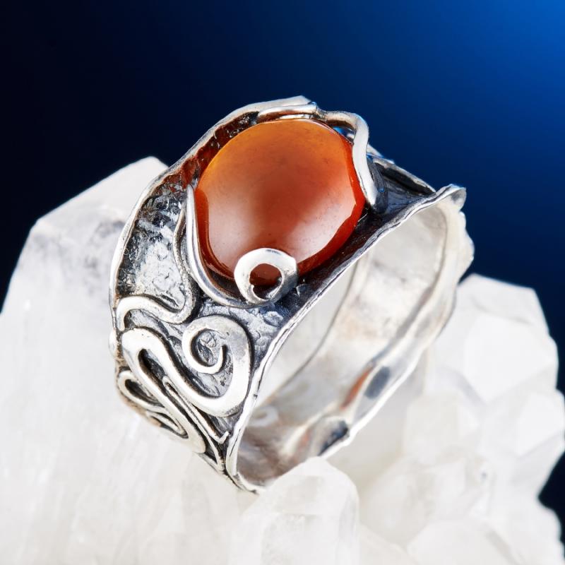 [del] Кольцо гранат спессартин Нигерия (серебро 925 пр.) размер 18