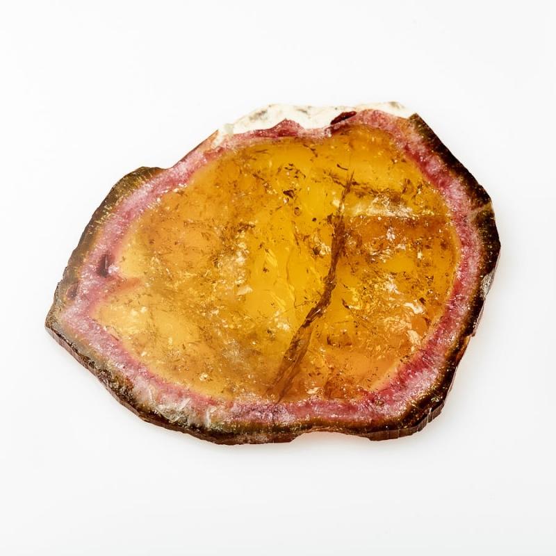 Кабошон турмалин полихромный  (срез) 55*63 мм кабошон турмалин розовый 14 23 мм