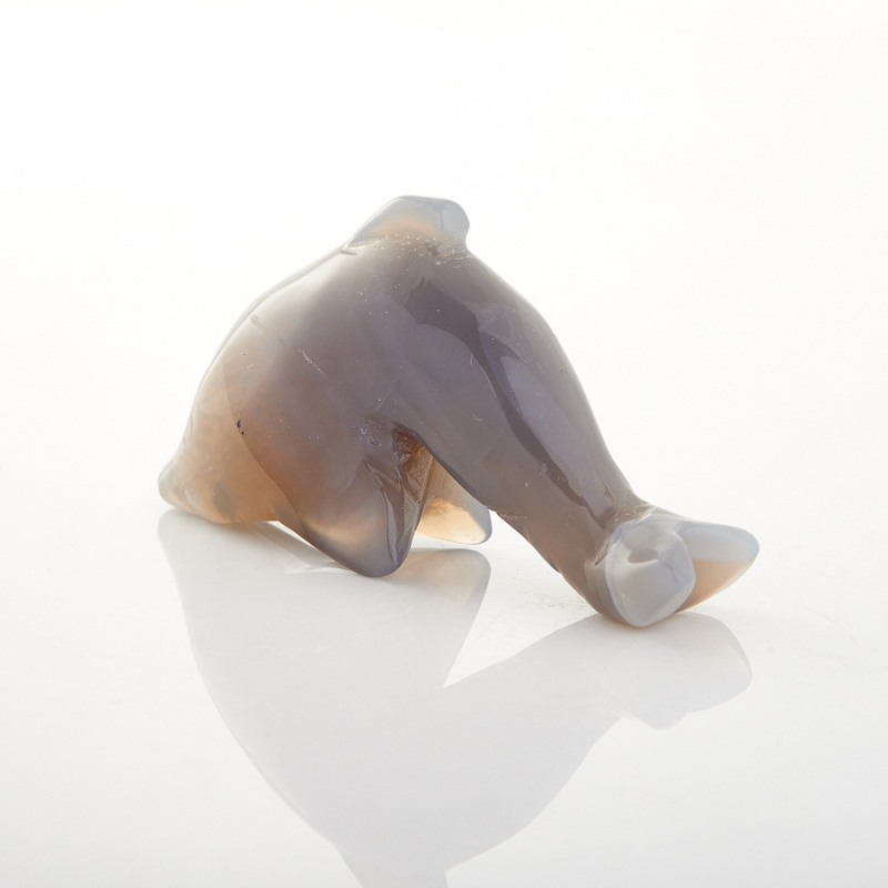 Дельфин агат серый Ботсвана 5 см