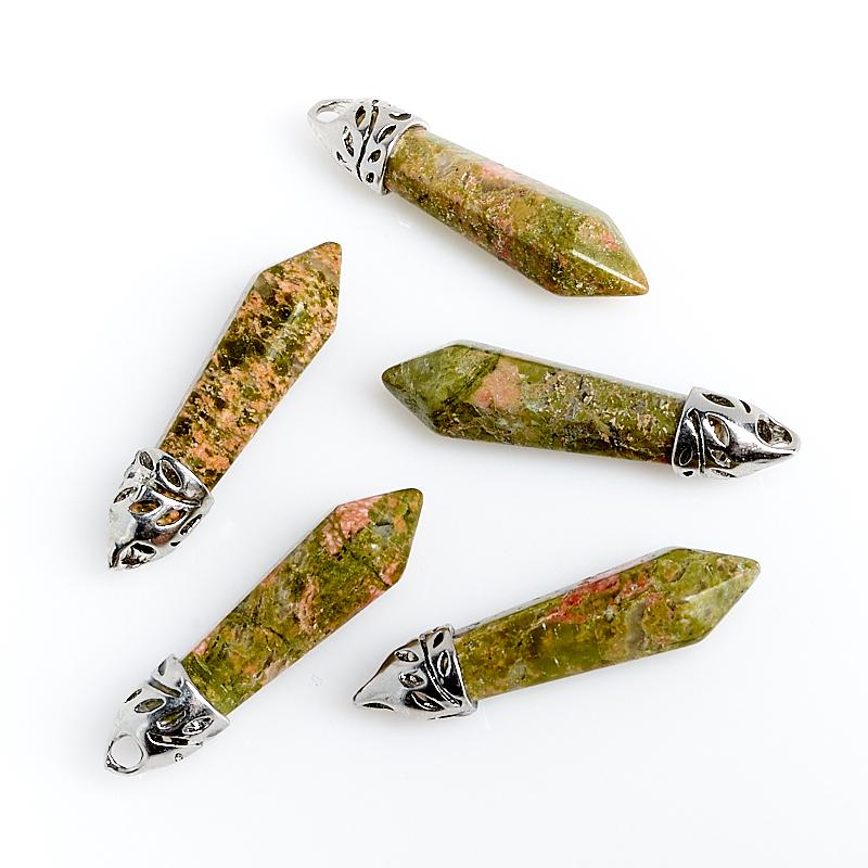 Кулон кристалл унакит 4 см