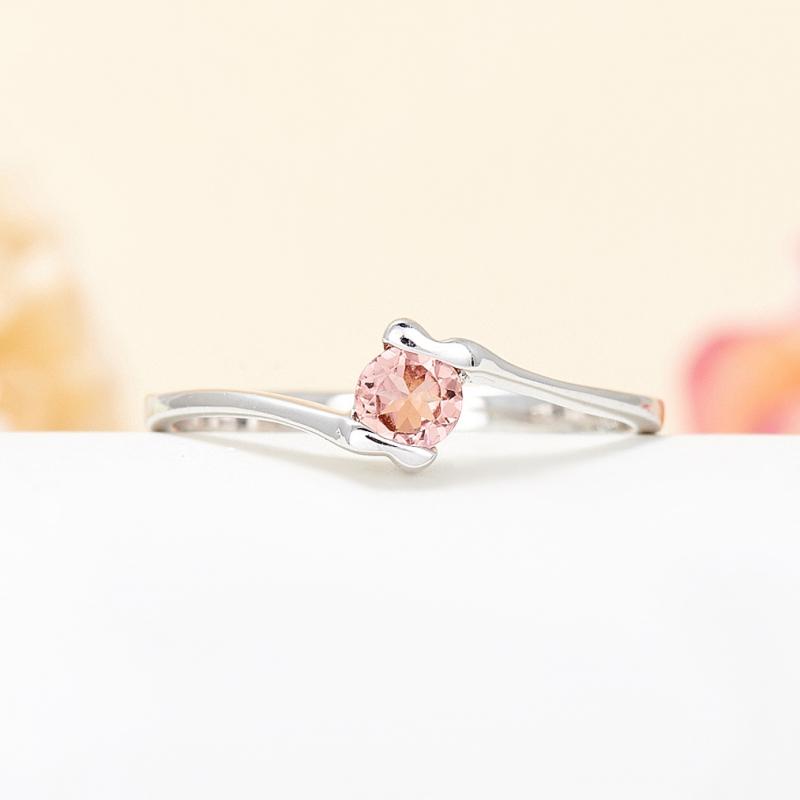 Кольцо турмалин розовый  огранка (серебро 925 пр.) размер 16,5