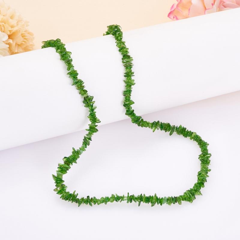 Бусы хромдиопсид  44 см бусы авантюрин зеленый 49 см