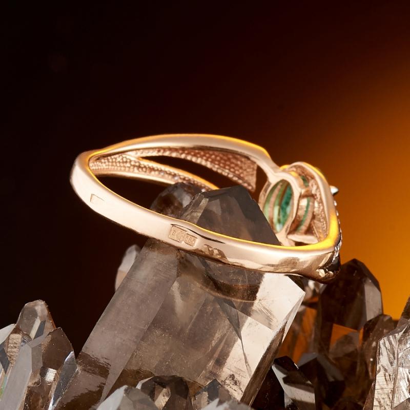 Кольцо изумруд Колумбия огранка (золото 585 пр.) размер 24,5