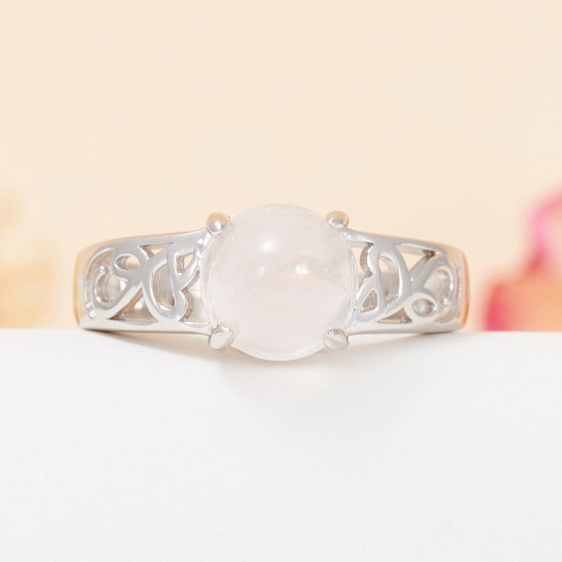 Кольцо розовый кварц  (серебро 925 пр.) размер 18,5 кольцо авантюрин зеленый серебро 925 пр размер 18