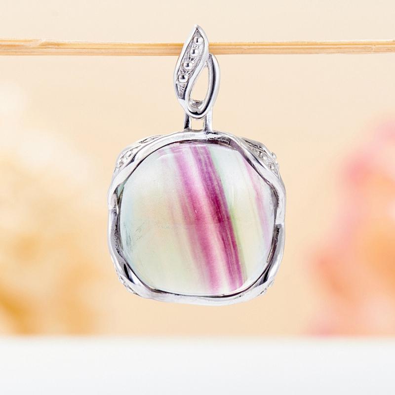 Кулон флюорит (серебро 925 пр.)