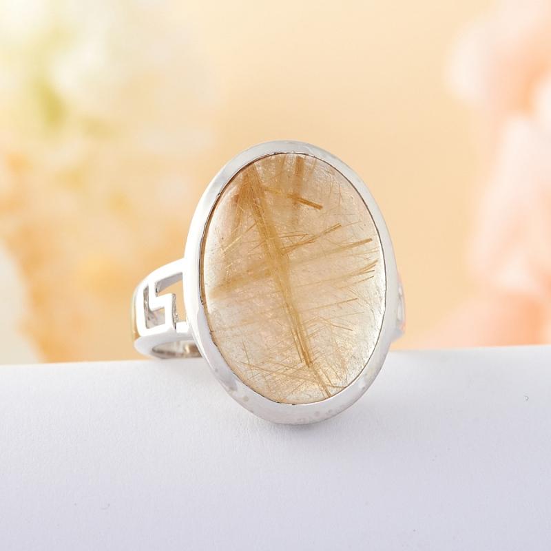 Кольцо рутиловый кварц  (серебро 925 пр.) размер 17,5