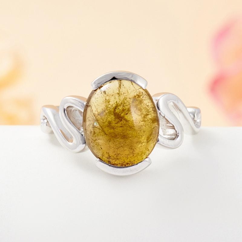 Кольцо турмалин зеленый  (серебро 925 пр.) размер 17,5 кольцо авантюрин зеленый серебро 925 пр размер 18
