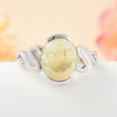 Кольцо турмалин зеленый Бразилия (серебро 925 пр.) размер 18