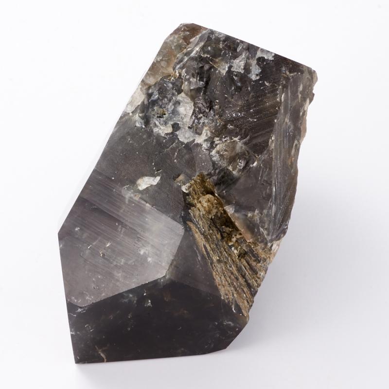 Кристалл раухтопаз с эпидотом  M
