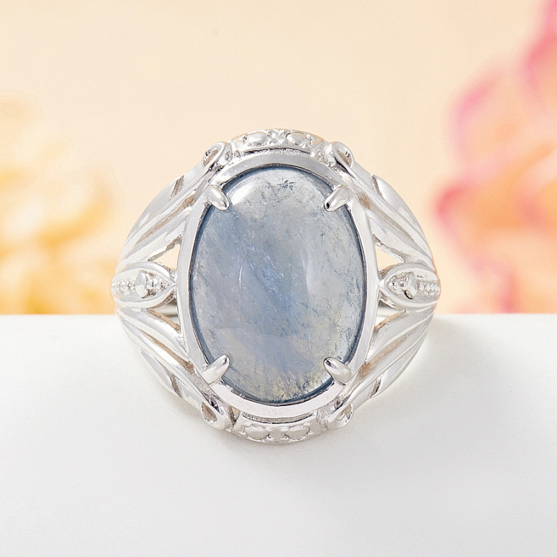 Кольцо турмалин черный  (серебро 925 пр.) размер 19