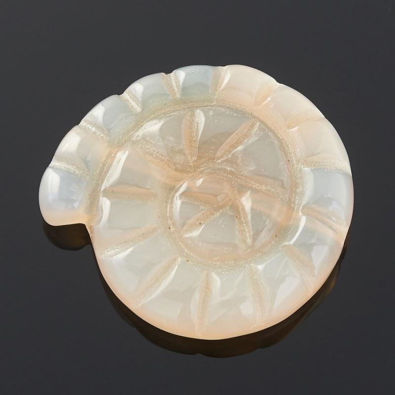 Пуговица ракушка агат Ботсвана 2 см
