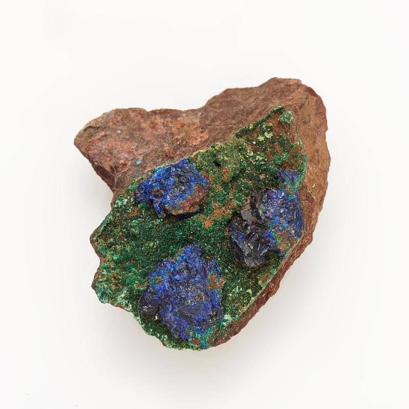 Кристалл в породе азурит с малахитом  XS