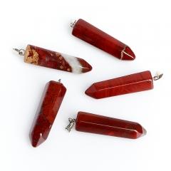 Кулон кристалл яшма красная ЮАР 3,5 см