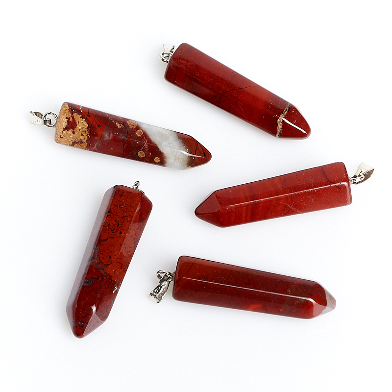 Кулон кристалл яшма красная 3,5 см цена